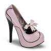 TEEZE-01 Baby Pink/Black Patent